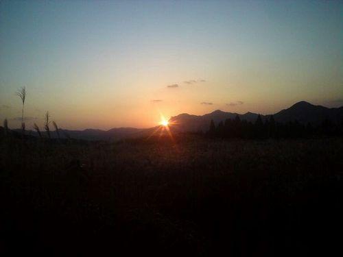 曽爾高原の夕日2