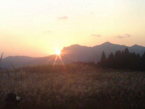 曽爾高原の夕日