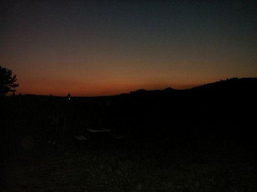 落日後の空